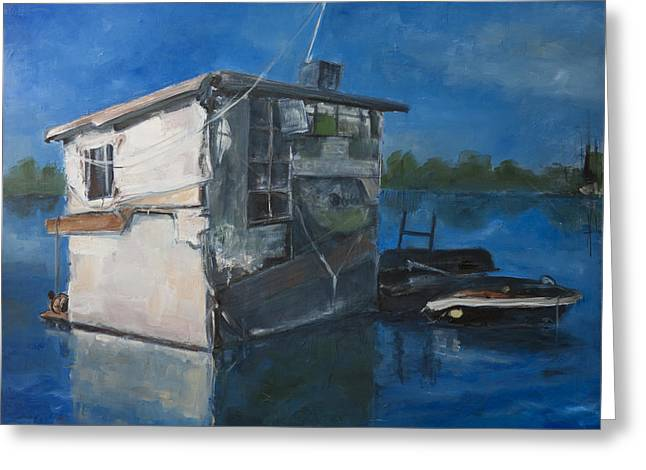 Houseboat Greeting Card by Sophie Brunet