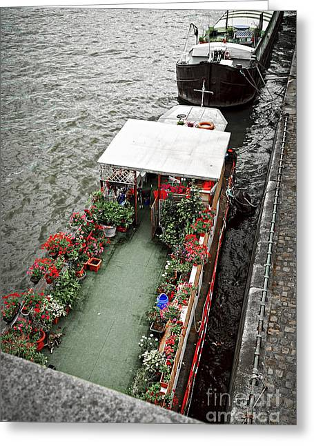 Houseboats In Paris Greeting Card