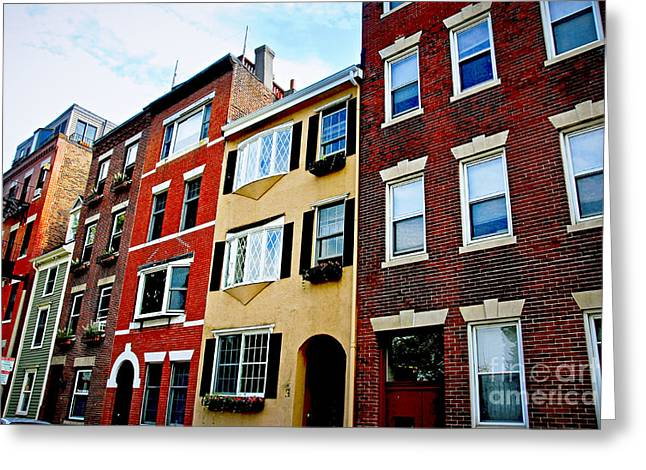 Houses In Boston Greeting Card by Elena Elisseeva