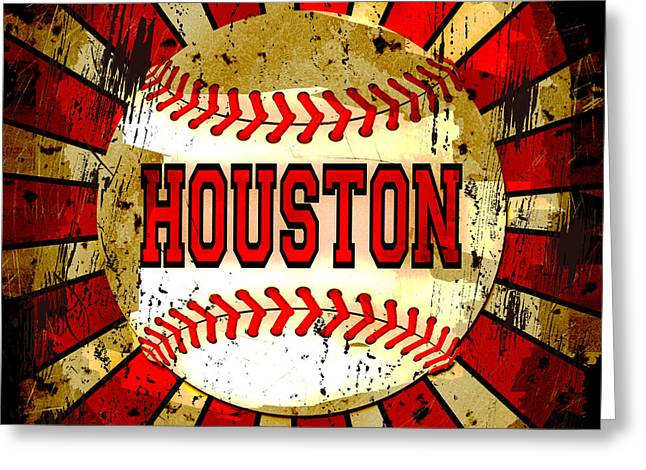 Houston Greeting Card by David G Paul