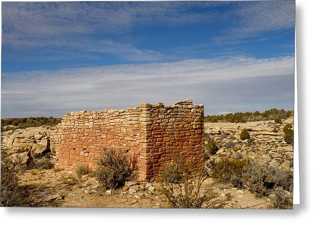 Hovenweep's Twin Towers Greeting Card by Feva  Fotos