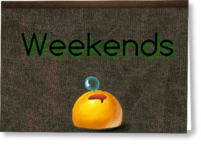 How I Spend Weekends #jo #amman #jordan Greeting Card