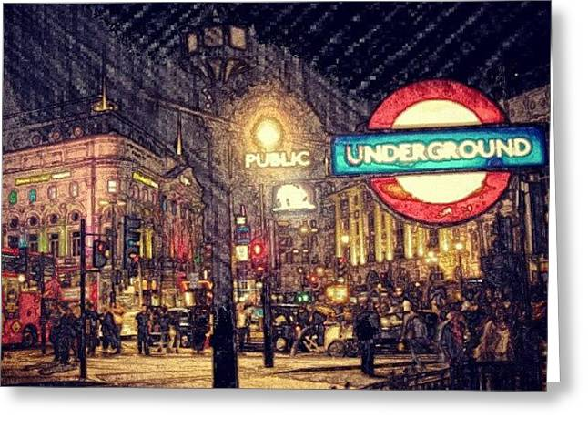 How London Looks Like At Night? May Greeting Card