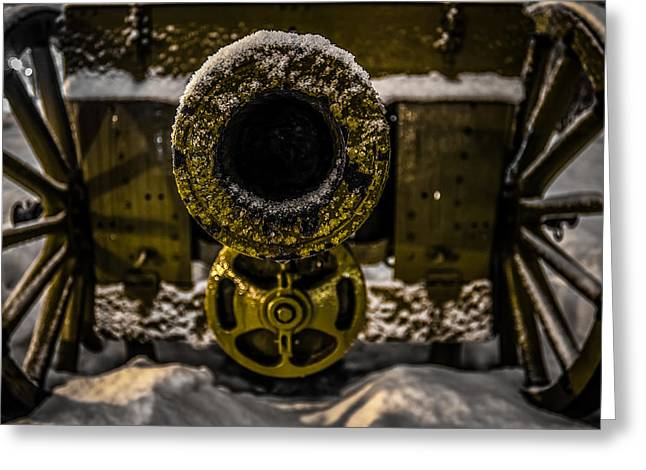 Greeting Card featuring the photograph Howitzer by Matti Ollikainen