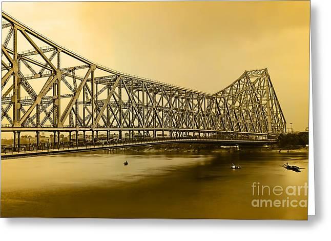 Howrah Bridge Greeting Card