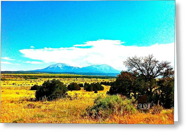 Spanish Peaks Greeting Card