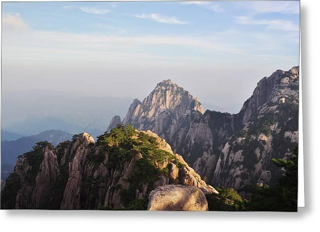 Huangshan Morning Greeting Card