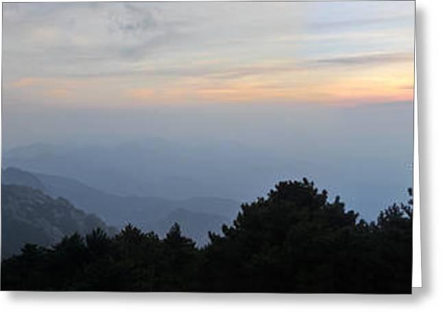 Huangshan Panorama 6 Greeting Card