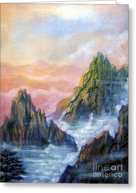 Huangshan Sunrise Greeting Card
