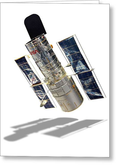 Hubble Space Telescope Greeting Card by Detlev Van Ravenswaay