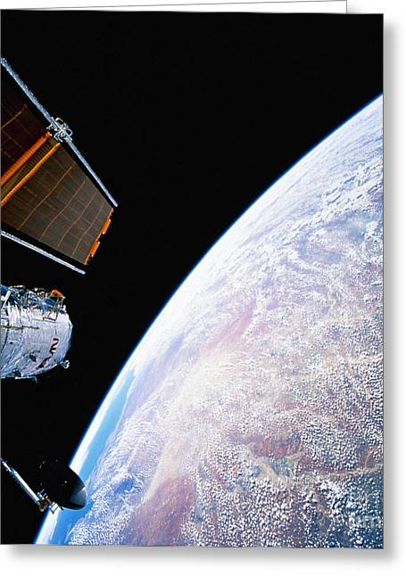 Hubble Space Telescope Greeting Card by Stocktrek Images