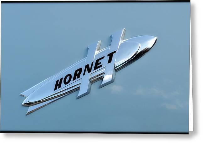 Hudson Hornet Trunk Ornament Greeting Card by Lyle  Huisken