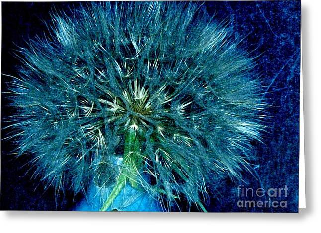 Hues In Blues Greeting Card by Marsha Heiken