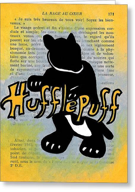 Hufflepuff Badger Greeting Card by Jera Sky