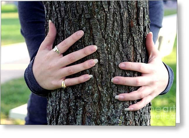 Hug A Tree Greeting Card by Susan Stevenson