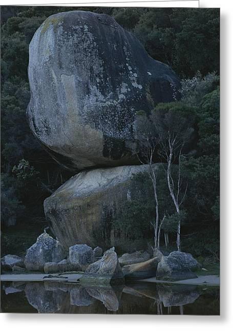 Huge Granite Boulders Encrusted Greeting Card