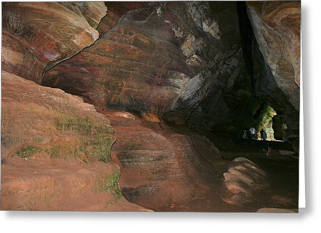 Huge Musky Cave Greeting Card by Richard Gregurich