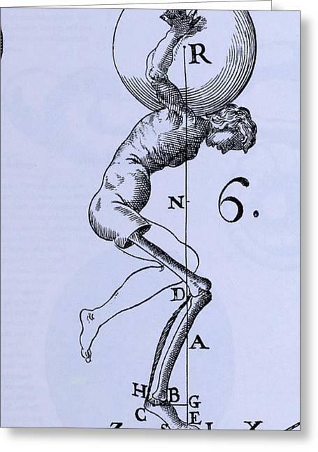 Human Body Lifting Greeting Card
