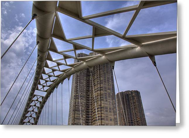 Humber Bay Bridge Greeting Card
