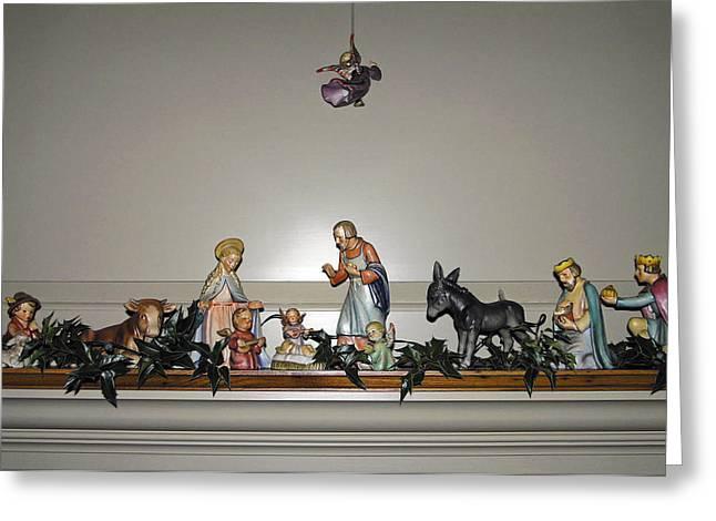 Hummel Nativity Set Greeting Card by Sally Weigand