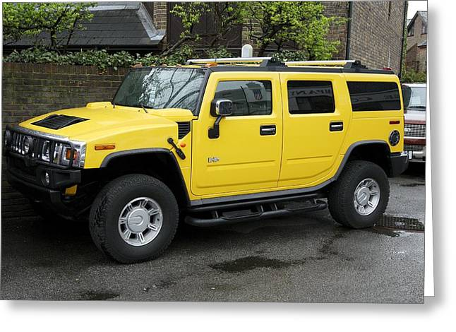 Hummer 4x4 Vehicle Greeting Card by Victor De Schwanberg