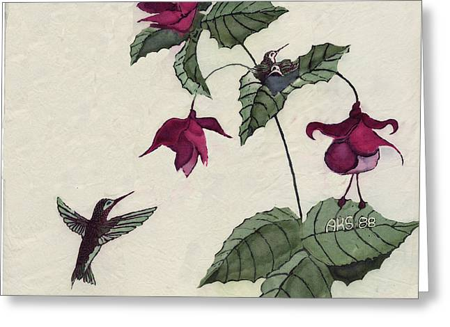 Hummer Family Greeting Card by Alexandra  Sanders