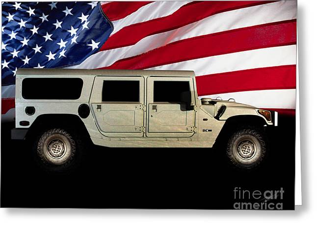 Hummer Patriot Greeting Card