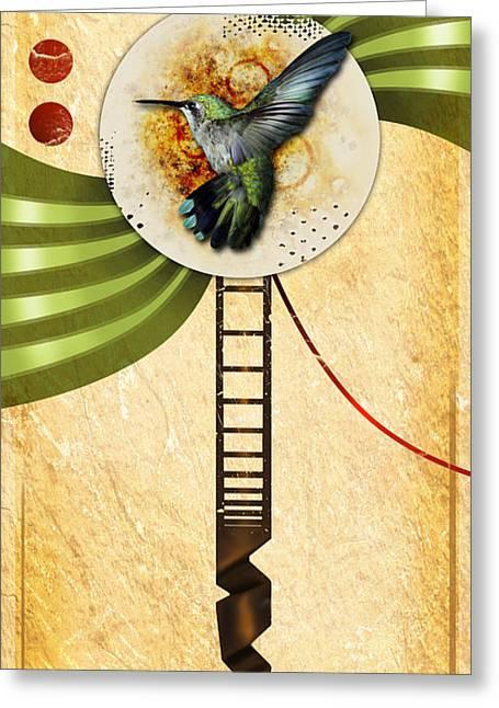 Humming Greeting Card by Joshua Dixon