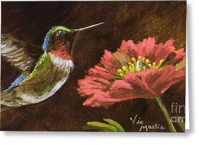 Hummingbird  Greeting Card by Vic  Mastis