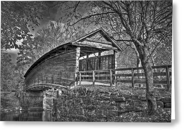 Humpback Bridge Bw Greeting Card