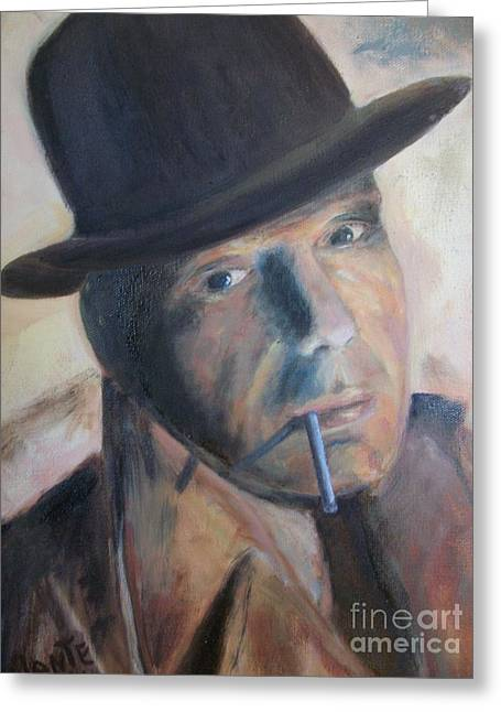 Humphry Bogart Greeting Card by Paul Galante