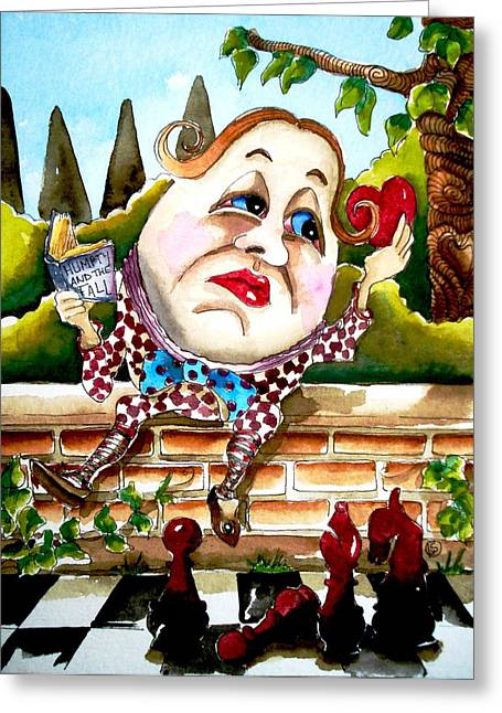 Humpty Dumpty Greeting Card by Lucia Stewart