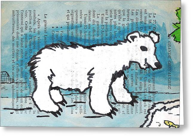 Hungry Polar Bear Greeting Card by Jera Sky