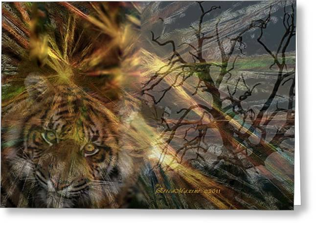 Greeting Card featuring the photograph Hunter by EricaMaxine  Price