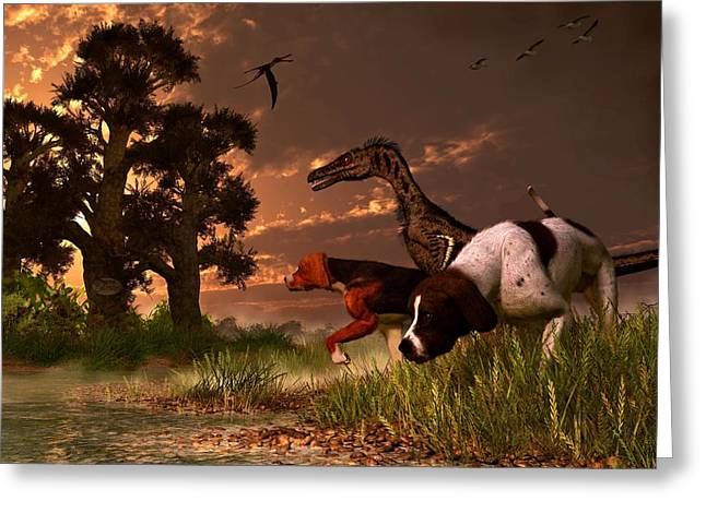 Hunting In The Age Gene Splicing Greeting Card by Daniel Eskridge