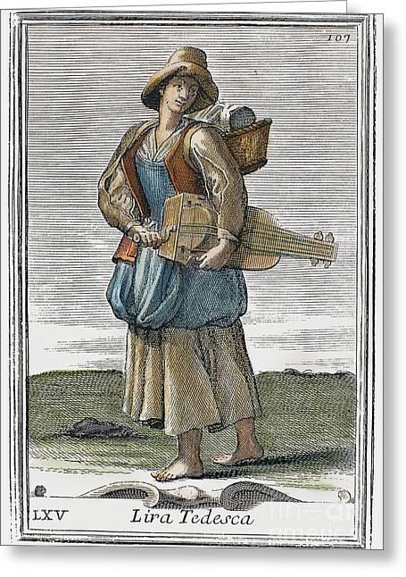 Hurdy Gurdy, 1723 Greeting Card