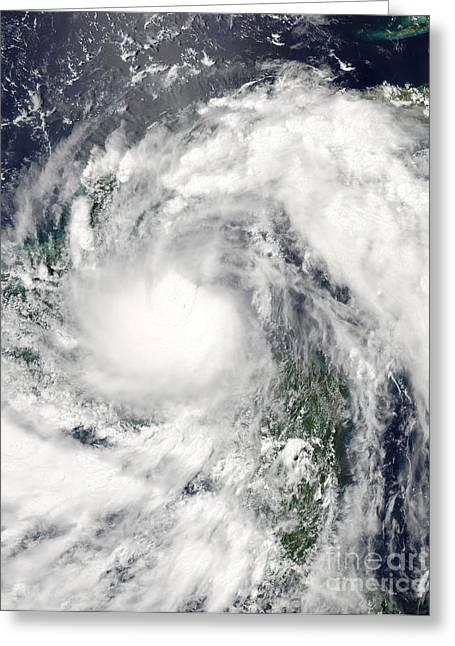 Hurricane Alex Greeting Card by Stocktrek Images