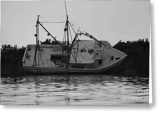 Greeting Card featuring the photograph Hurricane Boat by Luana K Perez