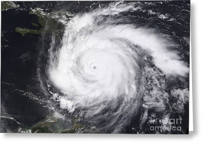 Hurricane Dean In The Atlantic Greeting Card by Stocktrek Images