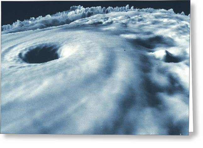 Hurricane Diana From Above Greeting Card