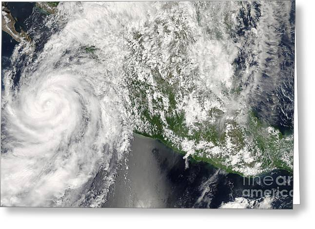 Hurricane Henriette Greeting Card by Stocktrek Images
