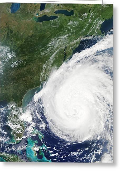 Hurricane Isabel, 17th September 2003 Greeting Card by Nasa