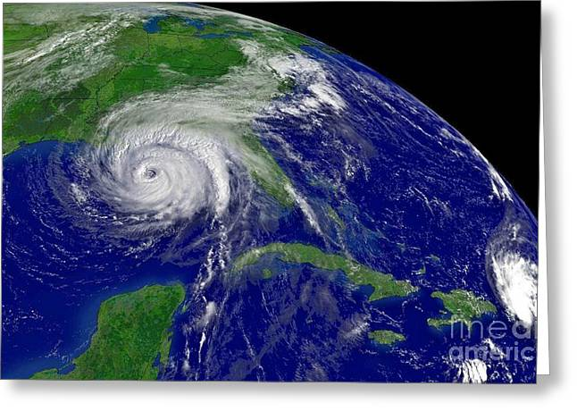 Hurricane Ivan In Gulf Of Mexico Greeting Card