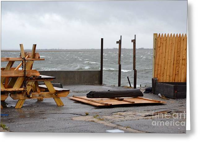 Hurricane Sandy 04 Greeting Card by Artie Wallace