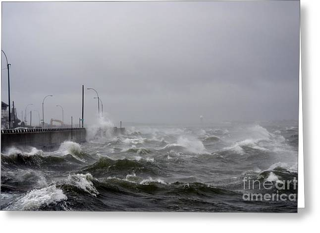 Hurricane Sandy 07 Greeting Card by Artie Wallace