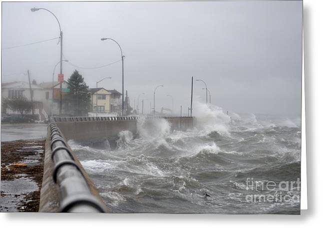 Hurricane Sandy 08 Greeting Card by Artie Wallace