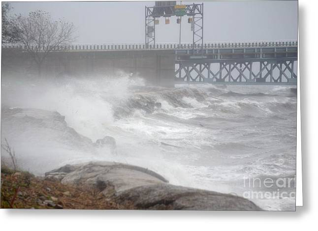 Hurricane Sandy 09 Greeting Card by Artie Wallace