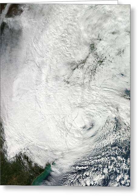 Hurricane Sandy Making Landfall Greeting Card