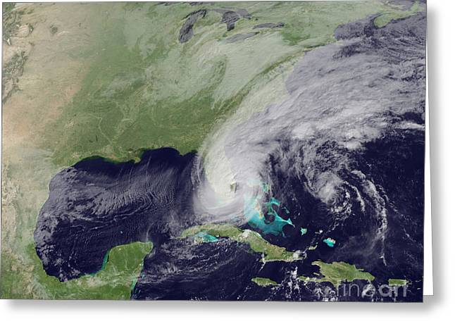 Hurricane Wilma Crosses Florida Greeting Card