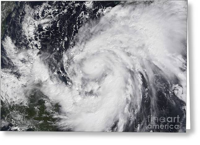 Hurricane Wilma In The Atlantic Greeting Card by Stocktrek Images